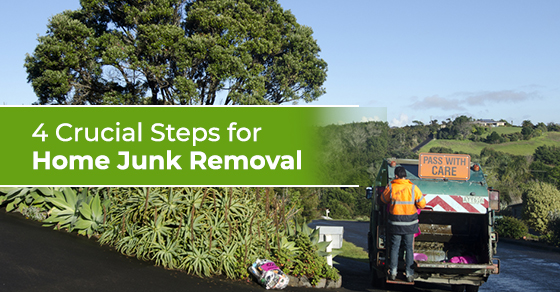 junk removal worker collecting home waste