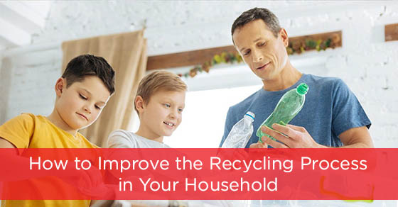 Recycling process in the household