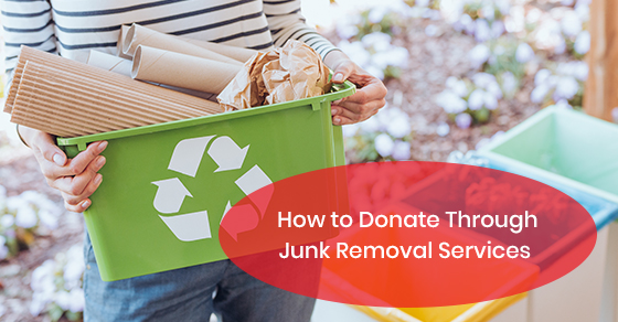 How to donate through junk removal services