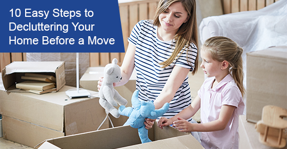 10 easy steps to decluttering your home before a move