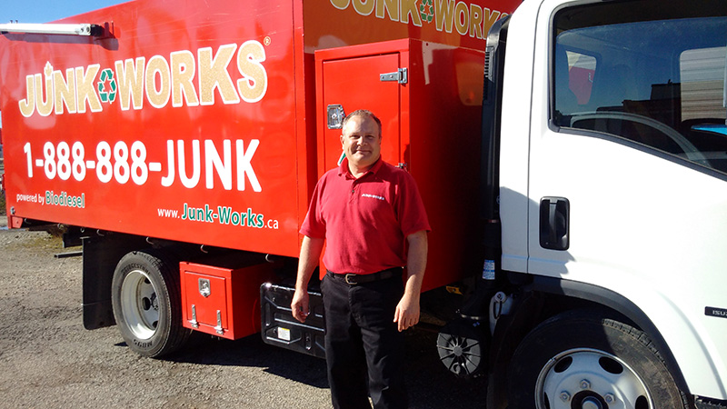 Junk King Franchise Owner,George Hickson.